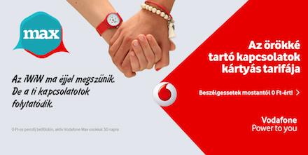Bezár az iWiW, a Vodafone reklámmal büntet