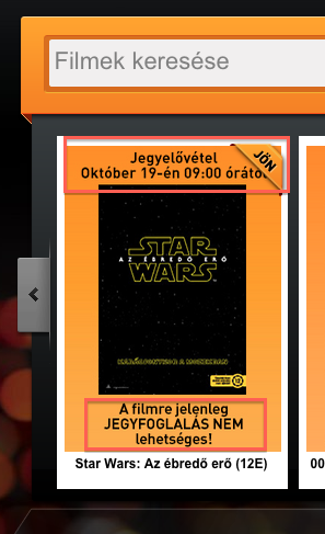 CinemaCity Star Wars jegyfoglalási mizéria