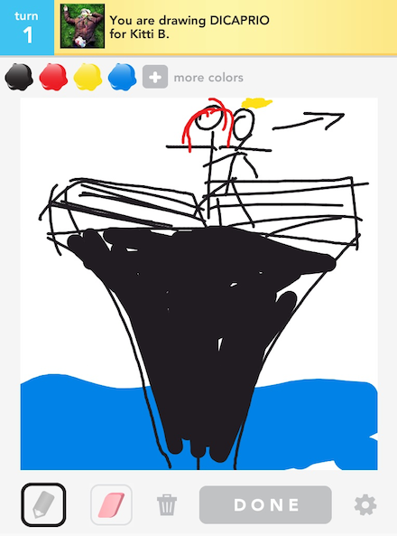 Draw Something - DICAPRIO by Mefi