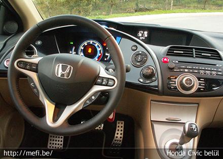 Honda Civic belső tér