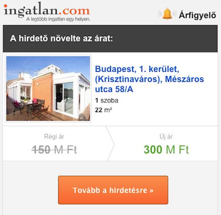 Árfigyelő az ingatlan.com-on