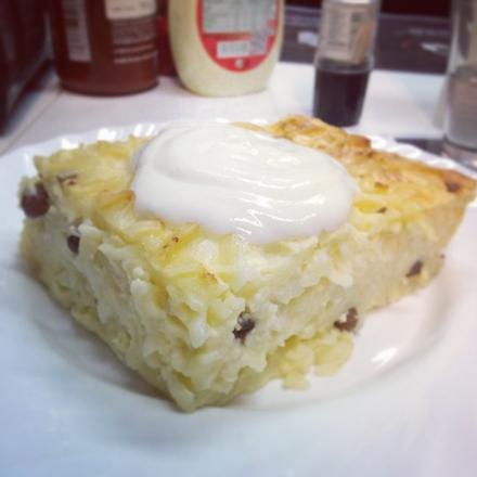 Interfood - Túrós rakott tészta, édes tejfölmártással