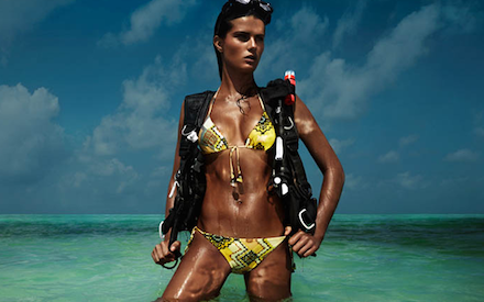 Isabeli Fontana - Beach Sensation at H&M