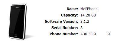 Mefi iPhone-ja az iTunesban