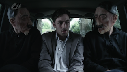 Misfits 4×03 - két hitleres maszkban ülő emberkével