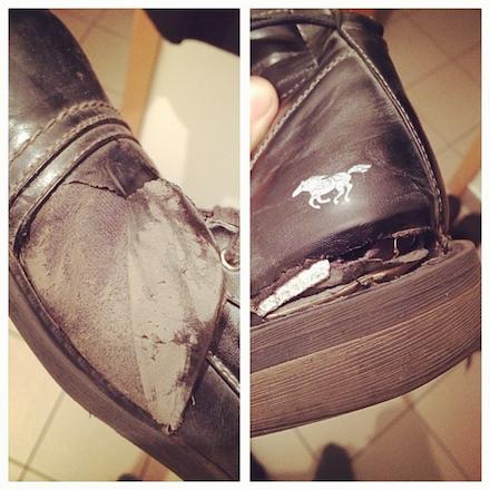 Mefi Mustang cipője egy évvel később