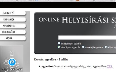 Online helyesírási szótár és szabályzat