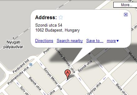 Szondi utca a Google Maps-en
