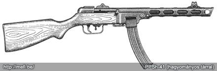 PPSh-41 hagyományos tárral