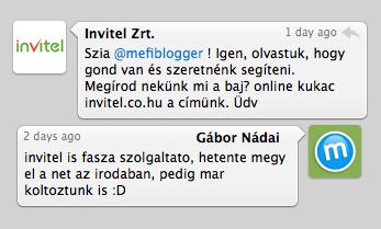 Twitter és Invitel