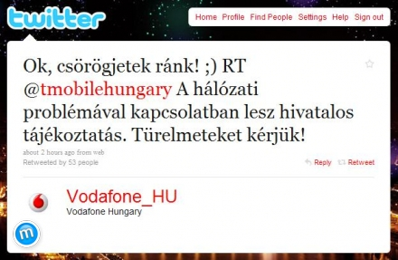 Vodafone retweet