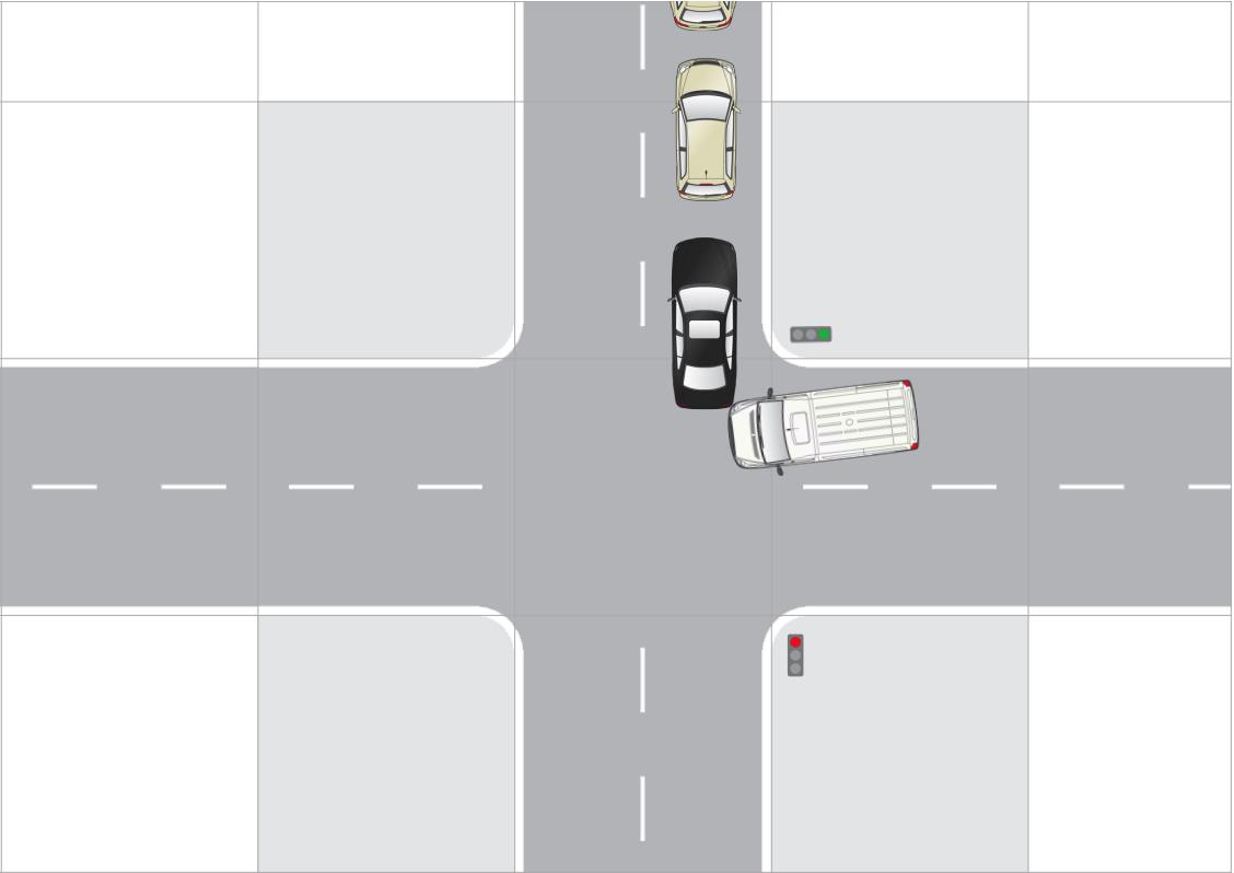 Autóbaleset ábra