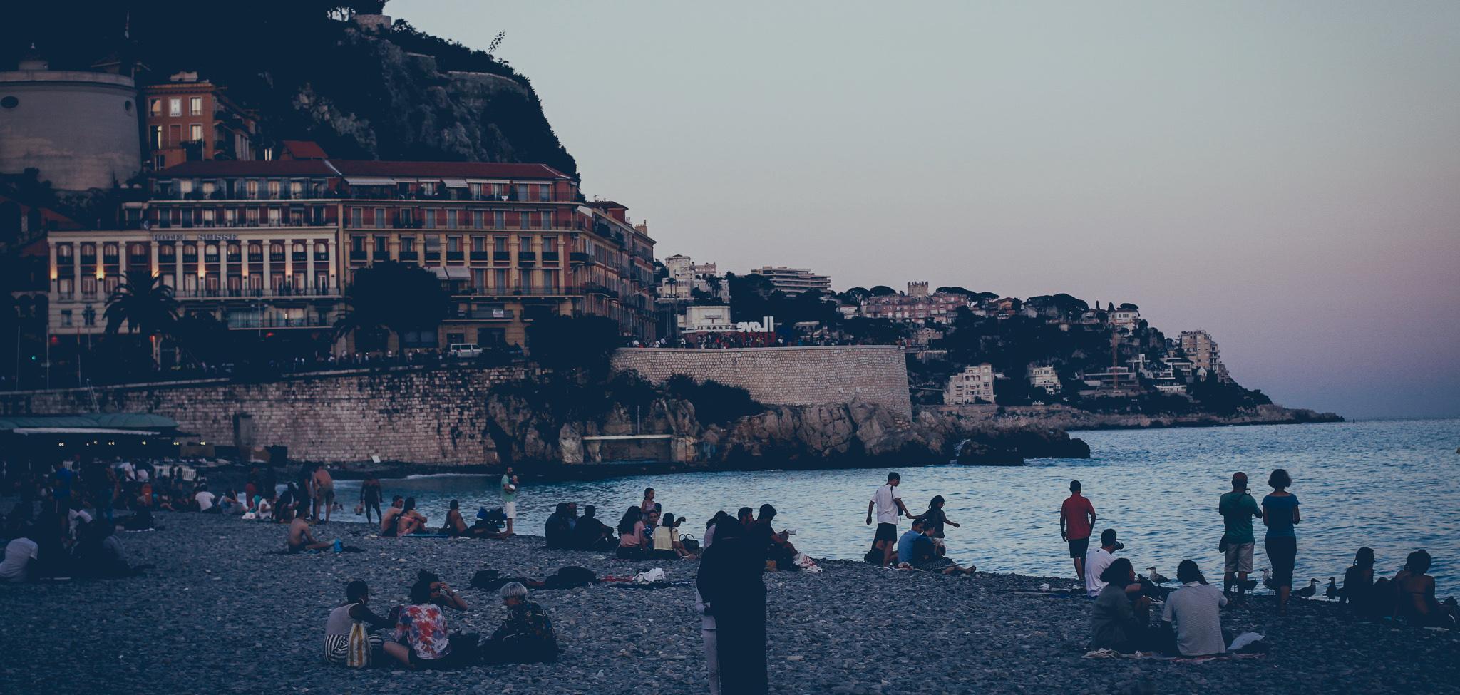 Nizza, Franciaország, a francia riviéra